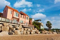 Hotel resort near beach Stock Photos
