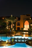 Hotel resort by night Stock Images