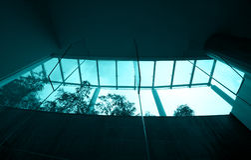 Hotel resort skylight stock image