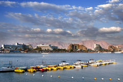Hotel Resorts of Eilat. This shot was taken in spring time at Eilat city - one of the famous tourist spot  and resort city in Israel Royalty Free Stock Photo