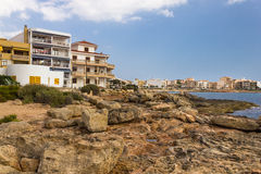 Hotel resorts on Mallorca, Baleares, Spain Royalty Free Stock Photos