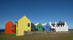 Hotel restaurado inspirado los nórdises en John O'Groats Fotos de archivo libres de regalías