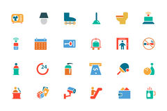 Hotel and Restaurant Colored Vector Icons 3 Royalty Free Stock Photography