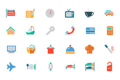 Hotel and Restaurant Colored Vector Icons 1 Royalty Free Stock Images
