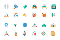 Hotel and Restaurant Colored Vector Icons 6 Royalty Free Stock Photography