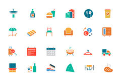 Hotel and Restaurant Colored Vector Icons 8 Royalty Free Stock Photos