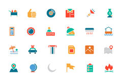 Hotel and Restaurant Colored Vector Icons 10 Stock Photography