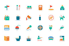 Hotel and Restaurant Colored Vector Icons 7 Royalty Free Stock Photo