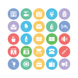 Hotel & Restaurant Colored Vector Icons 4 Royalty Free Stock Images