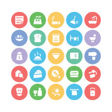 Hotel & Restaurant Colored Vector Icons 7 Royalty Free Stock Images