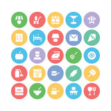 Hotel & Restaurant Colored Vector Icons 15 Royalty Free Stock Photography