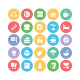Hotel & Restaurant Colored Vector Icons 10 Stock Photo