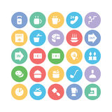 Hotel & Restaurant Colored Vector Icons 8 Stock Image