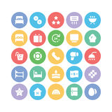 Hotel & Restaurant Colored Vector Icons 13. Get ready for holidays stay in hotels. Here are Hotel Vector Icons that you can use in your next hospitality and Royalty Free Stock Photo
