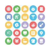 Hotel & Restaurant Colored Vector Icons 11 Stock Photo