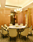 Hotel restaurant dining room. China,Asia Royalty Free Stock Photography