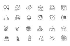 Hotel and Restaurant Doodle Icons 6 Royalty Free Stock Photo
