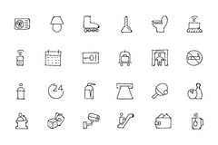 Hotel and Restaurant Doodle Icons 3 Royalty Free Stock Photos