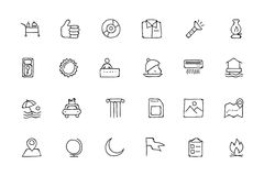 Hotel and Restaurant Doodle Icons 10 Stock Image