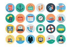 Hotel and Restaurant Flat Colored Icons 2 Royalty Free Stock Photography