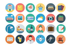 Hotel and Restaurant Flat Colored Icons 1 stock illustration