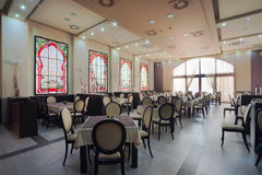 Hotel restaurant interior Royalty Free Stock Photos