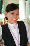 Hotel restaurant staff. Hotel or restaurant staff at work stock photos