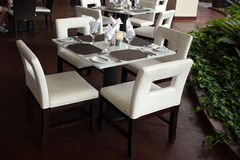 Hotel Restaurant Table For Four Stock Photography
