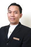 Hotel or restaurant uniform stock photos