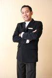 Hotel or restaurant uniform stock photo