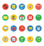 Hotel and Restaurant Vector Icons 3 Royalty Free Stock Photography