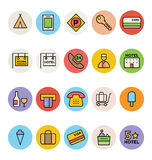 Hotel and Restaurant Vector Icons 3. Attention please, get ready for holidays, stay in hotels and enjoy your meal at restaurant. Here is Hotel and Restaurant Royalty Free Stock Images