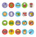 Hotel and Restaurant Vector Icons 5 Royalty Free Stock Photos