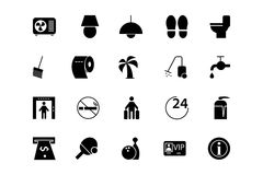 Hotel and Restaurant Vector Icons 3 vector illustration