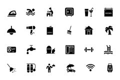 Hotel and Restaurant Vector Icons 2. This Hotel and Restaurant  icons pack is perfect for any designer or developer that is working on a new restaurant website Stock Photos