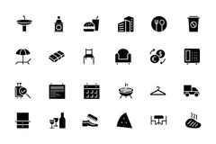 Hotel and Restaurant Vector Icons 8 Royalty Free Stock Images