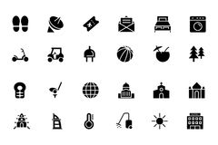 Hotel and Restaurant Vector Icons 6 Royalty Free Stock Photos