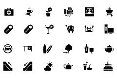 Hotel and Restaurant Vector Icons 4 Royalty Free Stock Photo