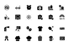 Hotel and Restaurant Vector Icons 9 Royalty Free Stock Image