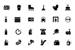 Hotel and Restaurant Vector Icons 3 Royalty Free Stock Images