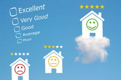 Hotel review classification with stars and emoji Royalty Free Stock Photography