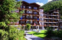 Hotel Rex (viersterren) in Zermatt, Zwitserland Royalty-vrije Stock Fotografie
