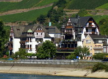 Hotel on the Rhine Stock Images
