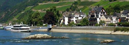 Hotel on the Rhine Royalty Free Stock Image