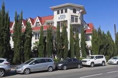 Hotel ` Riff ` in der Erholungsortregelung Adler, Sochi Stockfotografie