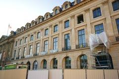 Hotel Ritz Paris sob a construção Imagem de Stock