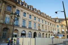 Hotel Ritz Paris sob a construção Imagens de Stock Royalty Free