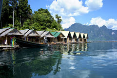 Hotel on  river in Thailand Royalty Free Stock Photography