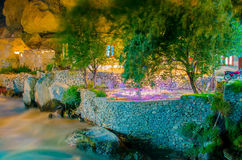 Hotel beside the River Royalty Free Stock Photography