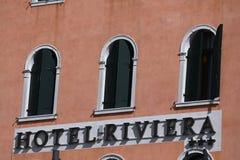 Hotel Riviera a Venezia Italia immagine stock